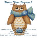 Owl Tealight: Wynter Thyme Blessings 2
