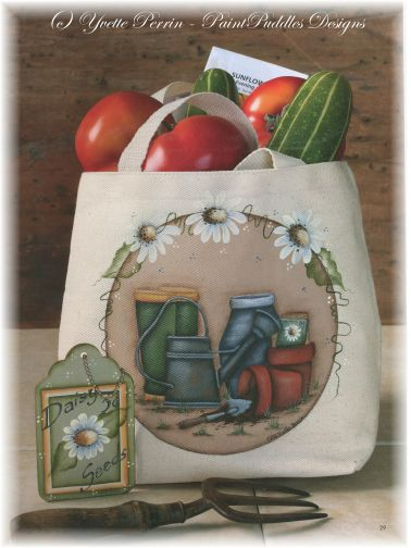 Garden Essential Tote Bag e-Pattern DOWNLOAD