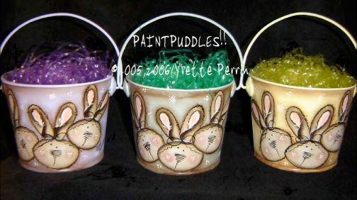 Prim Bunny Buckets e-Pattern DOWNLOAD