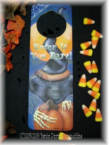 Enter If You Dare Door Hanger e-Pattern DOWNLOAD