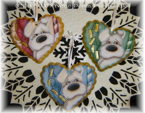 Joy, Peace, & Love Heart Ornaments e-Pattern DOWNLOAD