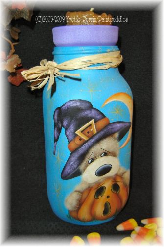 Witchy Bear Candle Jar e-Pattern