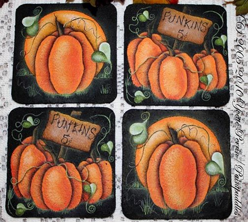 Punkins 5 Cents (Coasters) e-Pattern DOWNLOAD