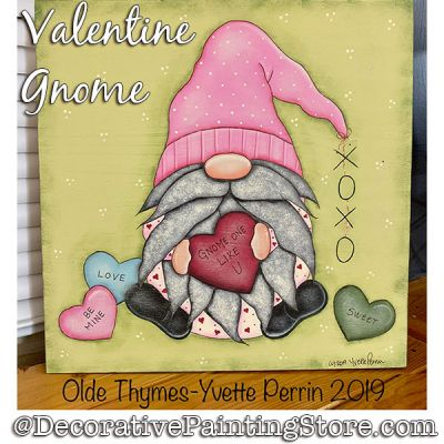 Valentine Gnome Painting Pattern PDF DOWNLOAD - Yvette Perrin