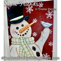Snow Friends Painting Pattern PDF DOWNLOAD - Yvette Perrin