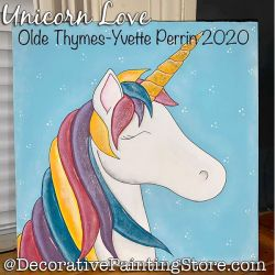 Unicorn Love Painting Pattern PDF DOWNLOAD - Yvette Perrin