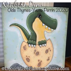 Newborn Dino (Dinosaur) Painting Pattern PDF DOWNLOAD - Yvette Perrin