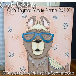 Cool Llama Painting Pattern PDF DOWNLOAD - Yvette Perrin