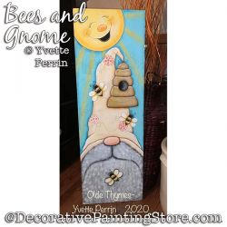 Bees and Gnome Painting Pattern PDF DOWNLOAD - Yvette Perrin