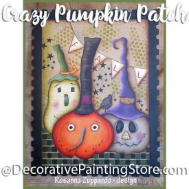 Crazy Pumpkin Patch ePattern - Rosanna Zuppardo - PDF DOWNLOAD