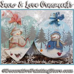 Snow and Love Ornaments ePattern - Rosanna Zuppardo - PDF DOWNLOAD