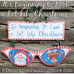 Its Beginning to Look a Lot Like Christmas DOWNLOAD Painting Pattern - Charlotte Fletcher