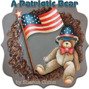 A Patriotic Bear ePattern by Sharon Chinn - BY DOWNLOAD